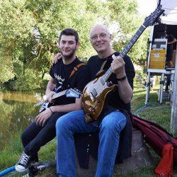 Warming up with Paul Reed Smith next to the lake of Burgebrach, before we hit the stage at Thomann Summer Festival in Germany.